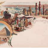 Carte postala Litografie Egypt necirculata UPU gm 135 redus