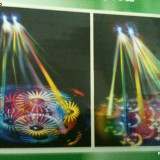 SCANNER, scaner dublu disco multicolor rotativa ( 2 fascicule luminoase ) - Echipament DJ