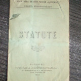 "Statut- Soc. ""AJUTORUL""-Rimnicu-Sarat-1903 - Carte Editie princeps"