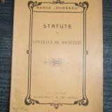 Statut- Banca DUNAREA-Calarasi-1907 - Carte Editie princeps