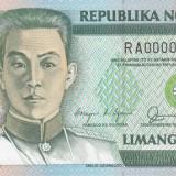Bancnota Straine - Bancnota Filipine 5 Piso 1989 - P177 comem. UNC # serie mica