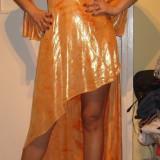 Rochie de seara chic/portocalie, Galben, Acril
