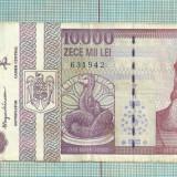 Bancnota 10.000 lei 1994 var cu fir lung-f.rara