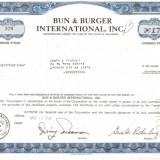 477 Actiuni - Bun & Burger International, Inc. -seria B 379