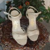 Sandale deosebit de elegante, unicat, din piele REDUCERE - Sandale dama