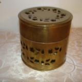 Metal/Fonta - VECHE CASETA CU CAPAC DE ALAMA DIN GERMANIA