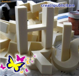 Litere, figurine volumetrice polistiren, decupare polistiren CNC