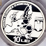 BNR 10 lei 2009, argint, Uniunea economica si monetara - Moneda Romania