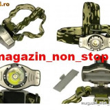 Lanterna Frontala ( De Cap ) Profesionala Cu Led Cree Zoom Acumulator