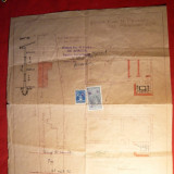 Harta - Desen de Cadastru al unei Proprietati in Calea Rahovei 325 - 1940