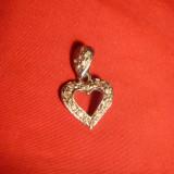 Pandantiv argint - Medalion Inimioara - argint cu cristale, 1, 1g