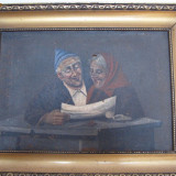 ULEI PE PANZA DIMITRIE HARLESCU 1872 Falticeni-1923 Constanta autentic - Pictor roman, Portrete, Impresionism