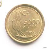 TURCIA 5000 LIRA LIRE 1998 AUNC **, Europa, An: 1998