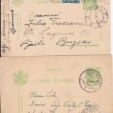 Plic Papetarie - Ansamblu 2, DIN BUCURESTI PTBAILE BUZIAS 1932, SI CARACAL PT TECUCI 1921.-OCPP 92