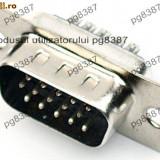 Conector DB15, tata, lipire, pe cablu - 124020 - Mufa
