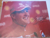 Autograf Michael Schumacher foto