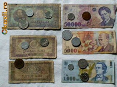 Bancnote Romanesti - Bani romanesti vechi- Bonus 500 Lei Eclipsa si Monede euro
