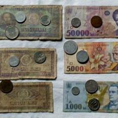 Bani romanesti vechi- Bonus 500 Lei Eclipsa si Monede euro