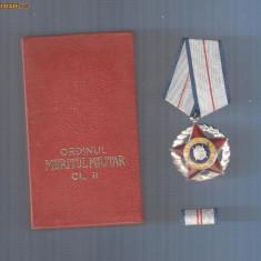 ORDINUL MERITUL MILITAR CL.2 RPR+BREVET+CUTIE