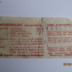 PROSPECTUL UNEI CUTII DE ANTINEVRALGIC DIN 1952!