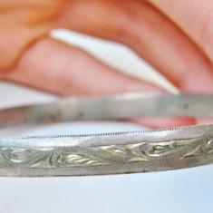 Bratara argint - BRĂȚARĂ VINTAGE DE DAMĂ CONFECȚIONATĂ DIN ARGINT, VECHE, GREUTATE - 13 GRAME!