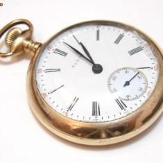 Ceas de buzunar suflat cu aur 24k Elgin