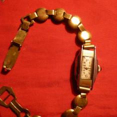 Ceas de mana - Ceas Dama Art Deco placat aur, marca RW si Ancora