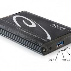 Rack HDD - Rack extern (Carcasa) HDD 2.5 SATA la Multiport USB 3.0 + eSATAp - 42488