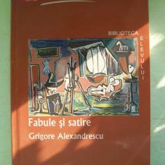 GRIGORE ALEXANDRESCU-FABULE SI SATIRE - Carte Fabule