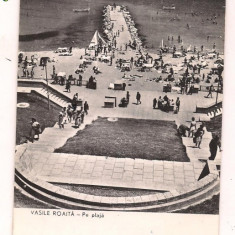 Carte postala(ilustrata)-VASILE ROAITA- Pe plaja