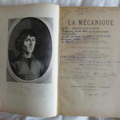 Ernst Mach La Mechanique Expose historique et critique de son developpement Ed/ Hermann 1925 - Carte Fizica