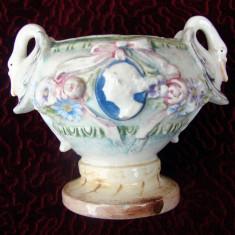 Vas din ceramica emailata italiana (posibil maiolica) DE COLECTIE!!! - Arta Ceramica