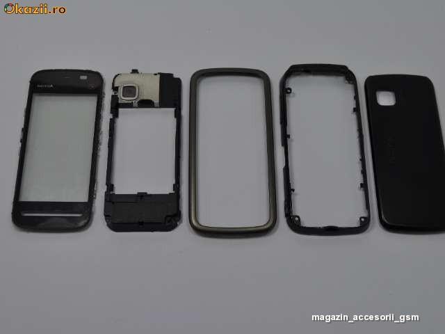 ...touch screen tastatura mijloc miez corp sasiu capac spate baterie Nokia 5228 5230 5233 Originala foto mare.
