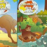 Carte de colorat - Set carti de colorat-Animale din Asia, Animale din Australia