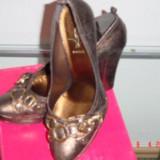 MARE Reducere! ALISHA VERA PELLE, SUPERBI, CULOAREA BRONZULUI - Pantof dama, 37 1/3, Bleu