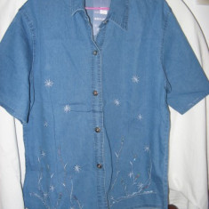 Costum dama vara blugi, Costum cu pantaloni, Albastru