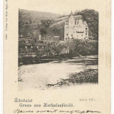 Carti Postale Romania pana la 1904, Circulata, Printata - CFL 1906 ilustrata tiparita in relief Baile Herculane - Vila Lucia