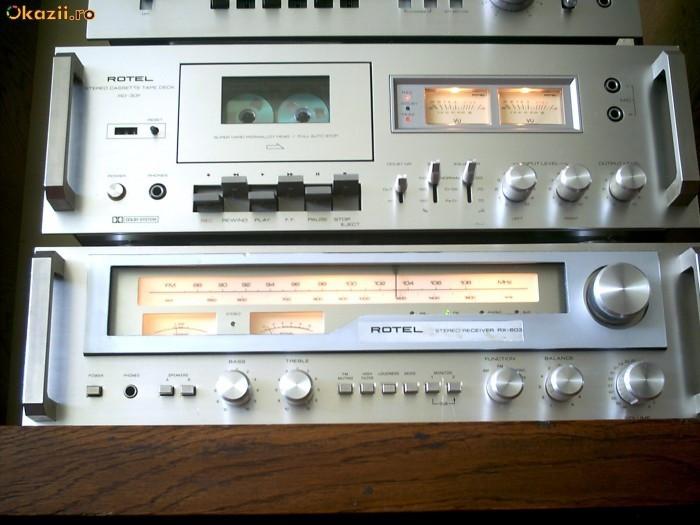 Sistem aduio exclusivist ROTEL amplituner receiver / casetofon deck foto mare