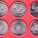 Monede Romania - 500 SETURI COMPLETE DE 3 MONEDE COMEMORATIVE 10 lei- fao-1995-1996 !!!