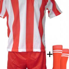 Echipamente de fotbal rosu-alb model 1 - copii - Set echipament fotbal