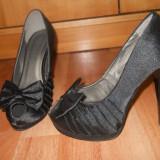 Pantofi dama, Marime: 38, Negru