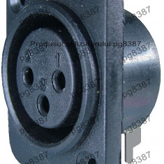 Mufa microfon mama, panou, conector XLR mama panou-122267