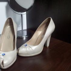 Pantofi dama, Marime: 35, Nude - Pantofi piele Kaloni