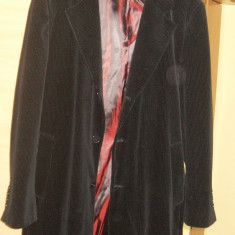 Palton Zara, negru, interior visiniu, marimea xl NOU cu husa - Palton dama Zara, Bumbac