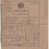Ministerul Finantelor - LICENTA PENTRU BAUTURI SPIRTOASE 1886 - Pasaport/Document, Romania pana la 1900