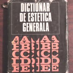 DICTIONAR DE ESTETICA GENERALA - COLECTIV DE AUTORI - Istorie
