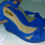 Sandale dama, Marime: 36, Albastru - Sandale albastre Stradivarius superbe