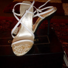 Sandale piele colin stuart/victoria's secrets - Sandale dama Victoria S Secret, Marime: 36, Culoare: Alb