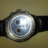 Swatch Irony - Ceas barbatesc Swatch, Quartz, Piele, Cronograf, Analog