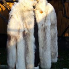 Haine dama - Haina blana naturala vulpe